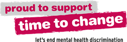 proud to support time to change, let's end mental health discrimination