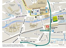 Nottingham streets map